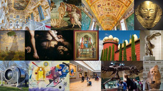 Al Museo con un click! 14 tour virtuali per ammirare i capolavori esposti in mezzo mondo